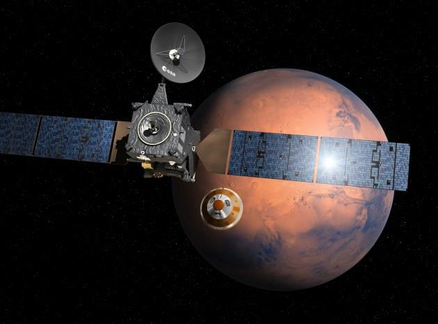 유럽과 러시아가 공동으로 14일 화성 탐사선 엑소마스를 발사했다.  - 유럽우주국(ESA) 제공